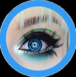 SFX Mermaid costume lenses, theatrical contacts, sfx lenses,cosplay lenses, halloween colored lenses, peimal lenses