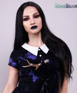straight lace front jet black wig for witchy, gothic or just cosplay looks
